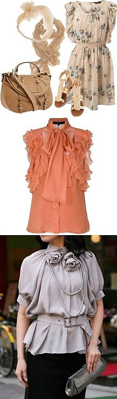 Womanly blouses