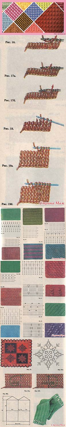 """Valuable most detailed grant to beginners on the Tunisian knitting - part 1: Diary of \""""We KNIT ACCORDING TO the DESCRIPTION\"""" group: Groups - the female social network myJulia.ru"""