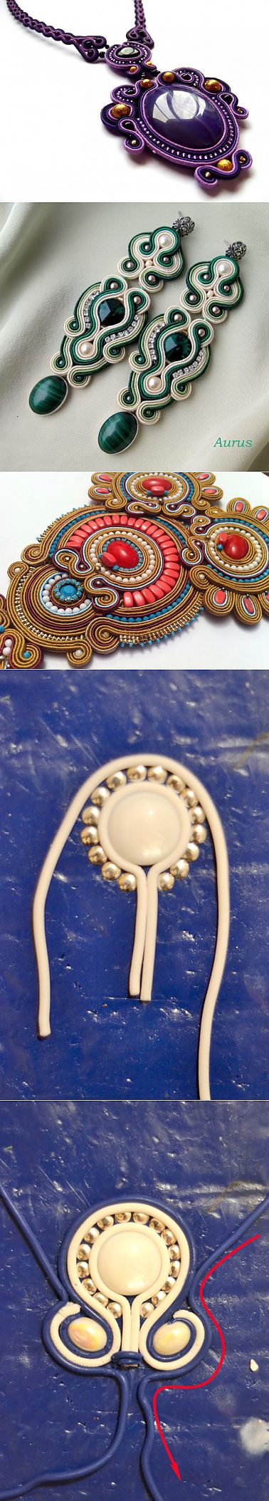 (+1) - Imitation of a soutache or filigran from polymeric clay. Author of MK Alenka Vityugova | the HANDS