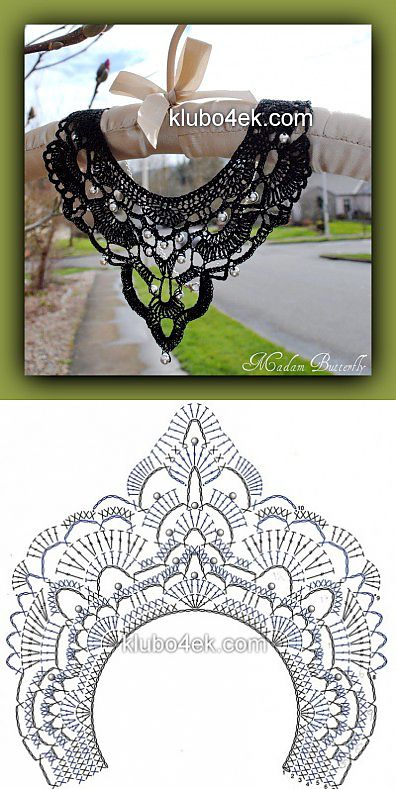 Knitted ornament — a collar